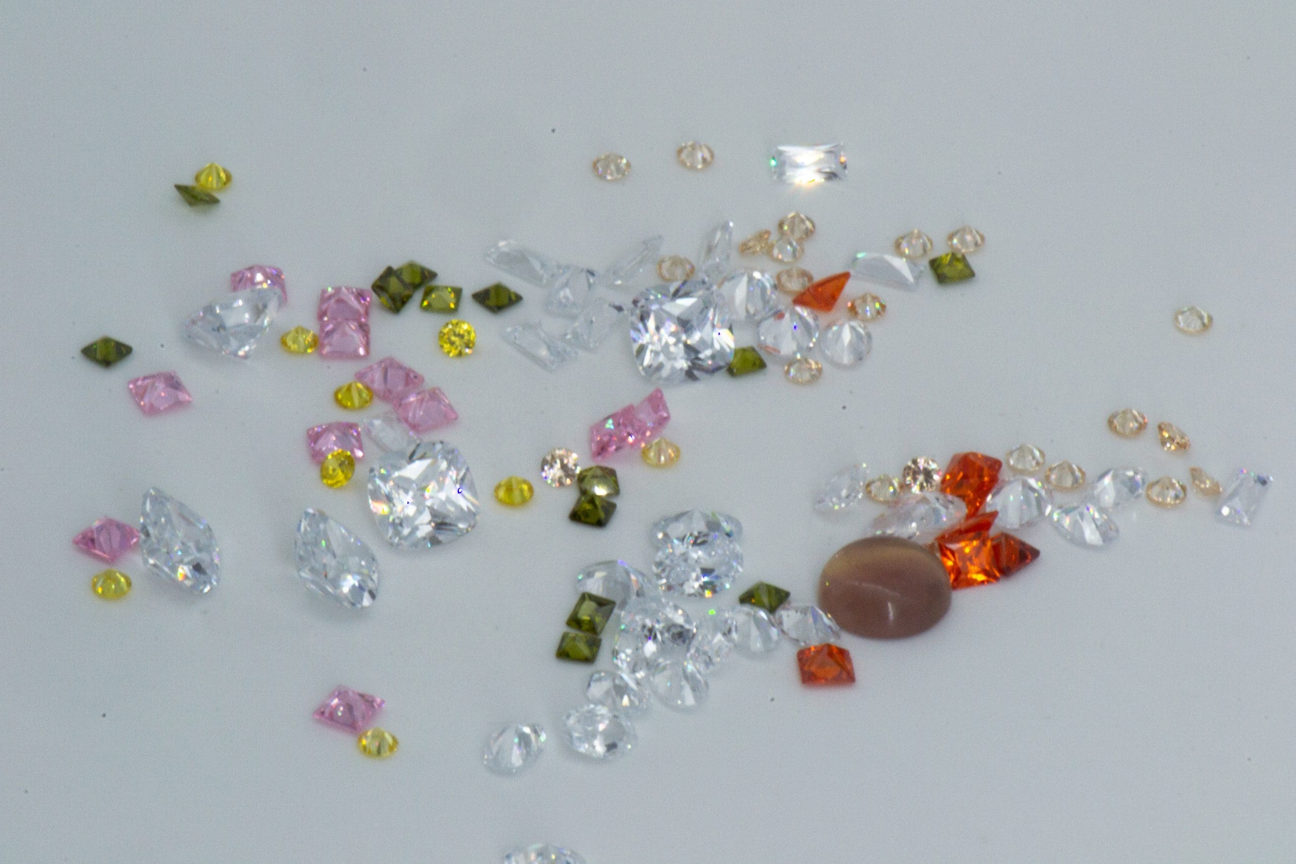 Cubic zirconia are sustainable sparkling and hardwearing gemstones