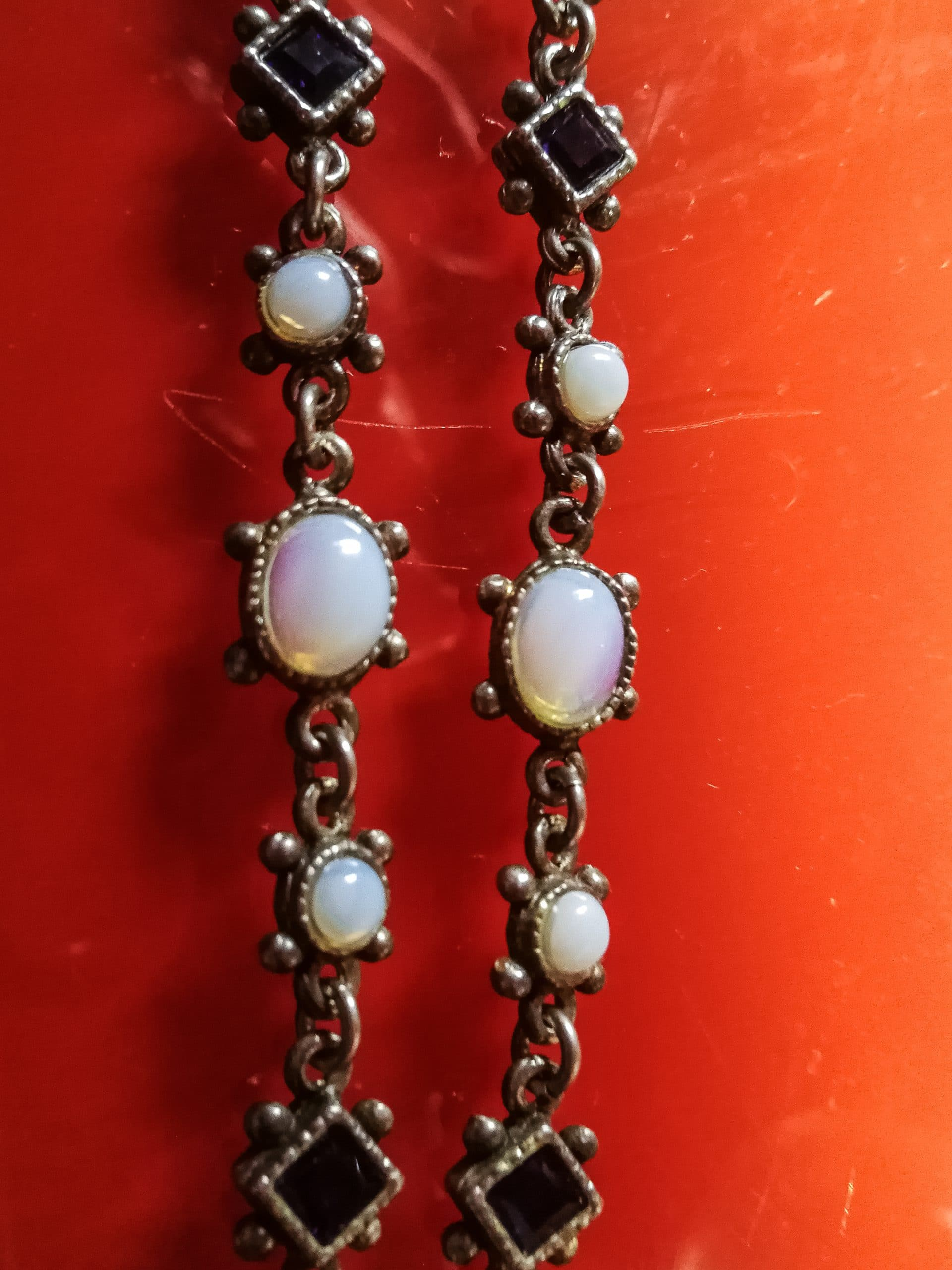 Antique necklace with moonstones