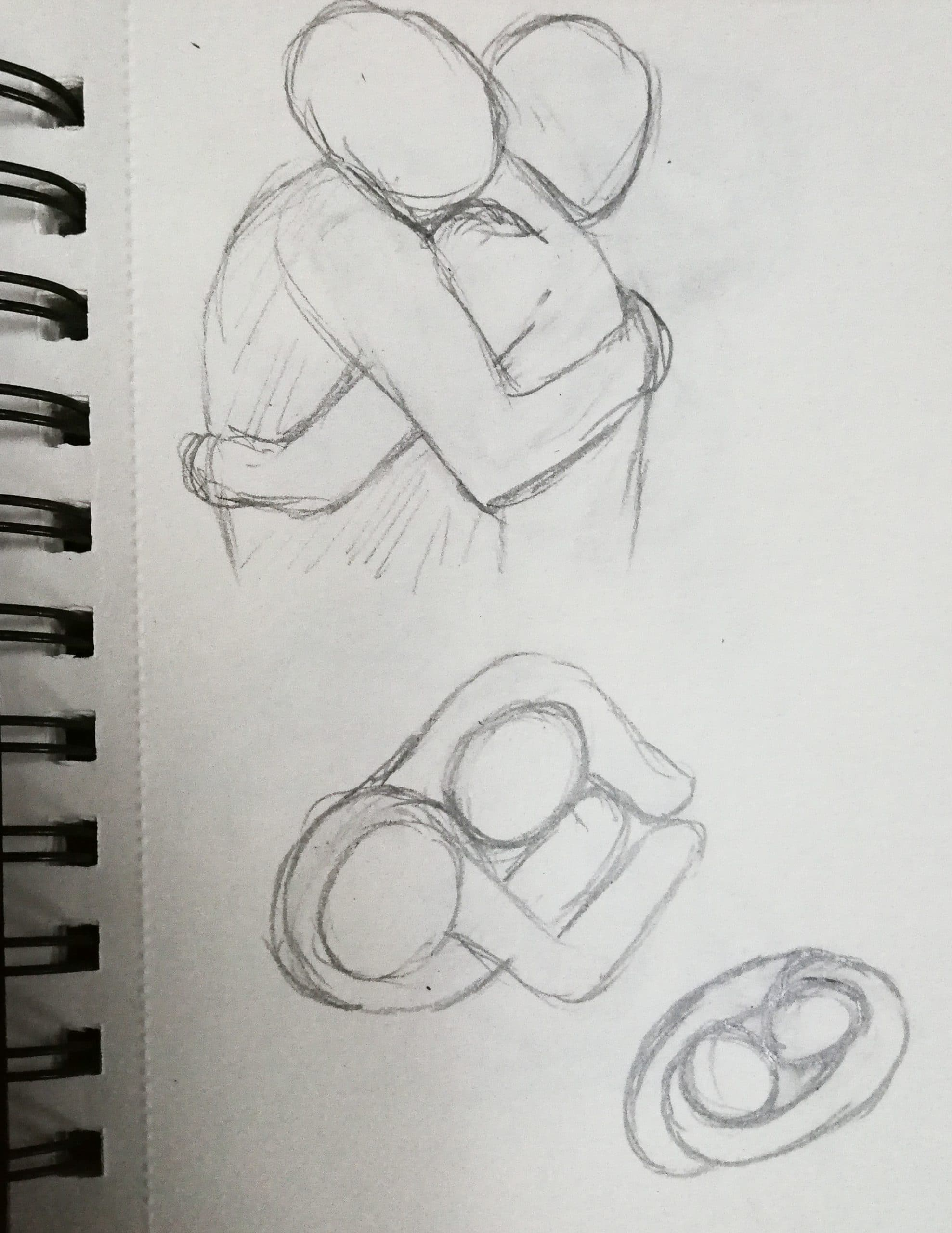 Developing emotional ring designs from a wedding photo
