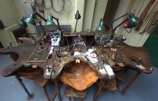 Birmingham Jewellery Museum workbench
